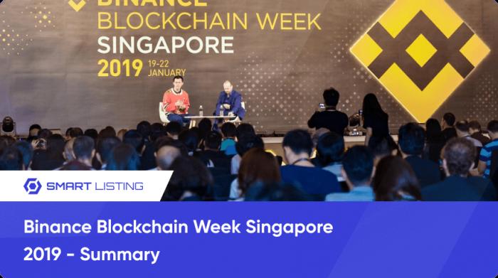 Binance Blockchain Week Singapore 2019 - Summary