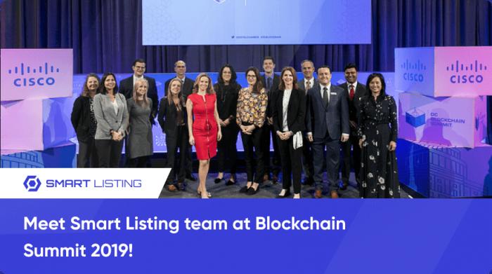 Meet Smart Listing team at Blockchain Summit 2019!
